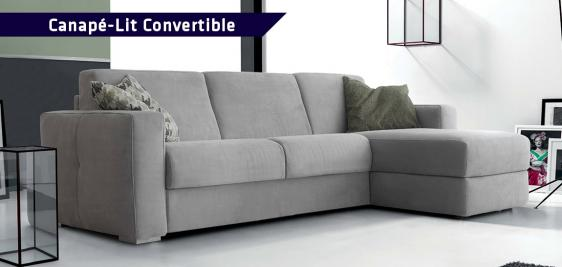 Grand canapé convertible Sofabed® INFINITY avec chaise longue